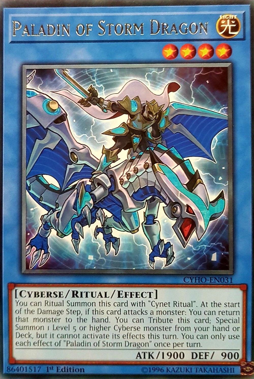 Paladin of Storm Dragon - CYHO-EN031 - Rare - 1st Edition
