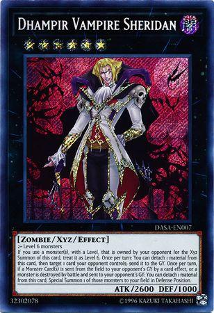 Dhampir Vampire Sheridan - DASA-EN007 - Secret Rare - Unlimited