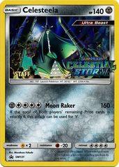 Celesteela - SM131 - Holo Rare - Celestial Storm - Staff Stamped Promo - SM Black Star Promo on Channel Fireball