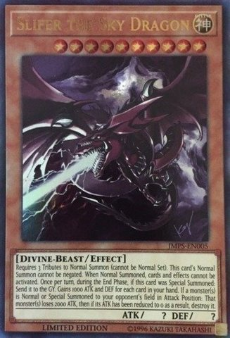 Slifer the Sky Dragon - JMPS-EN005 - Ultra Rare - Limited Edition