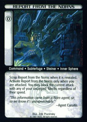 Report from the Norns