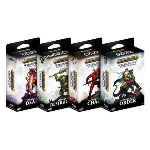 Warhammer Age of Sigmar Champions Set of 4 Campaign Decks