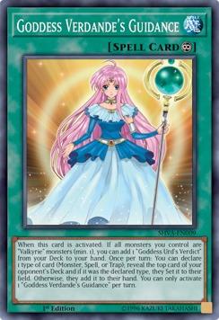 Goddess Verdandes Guidance - SHVA-EN009 - Super Rare - 1st Edition