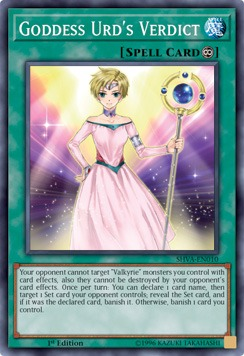 Goddess Urds Verdict - SHVA-EN010 - Super Rare - 1st Edition