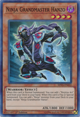 Ninja Grandmaster Hanzo - SHVA-EN022 - Super Rare - 1st Edition on Channel Fireball