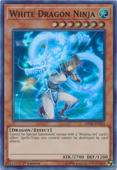 White Dragon Ninja - SHVA-EN024 - Super Rare - 1st Edition