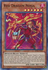 Red Dragon Ninja - SHVA-EN025 - Super Rare - 1st Edition