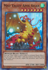 Mist Valley Apex Avian - SHVA-EN045 - Super Rare - 1st Edition on Channel Fireball