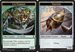 Cat Warrior Token // Thopter Token
