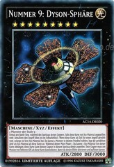 Number 9: Dyson Sphere (Nummer 9: Dyson-Sphäre) - AC14-DE020 - Super Rare