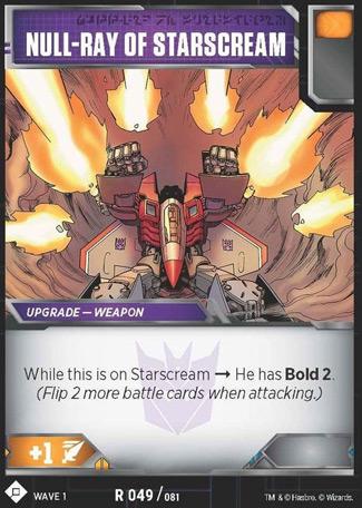 Null-Ray of Starscream