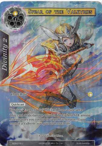 Spear of the Valkyries - NDR-018 - U - Full Art