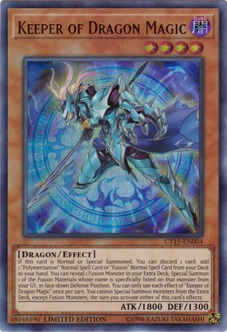 Keeper of Dragon Magic - CT15-EN004 - Ultra Rare - Limited Edition