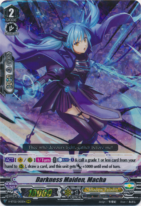 Darkness Maiden, Macha - V-BT02/005EN - RRR