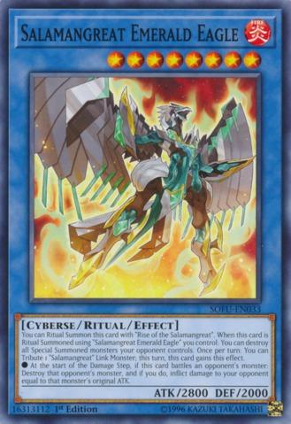 Salamangreat Emerald Eagle - SOFU-EN033 - Common - 1st Edition - Yu