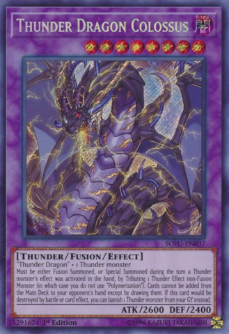 Thunder Dragon Colossus - SOFU-EN037 - Secret Rare - 1st Edition