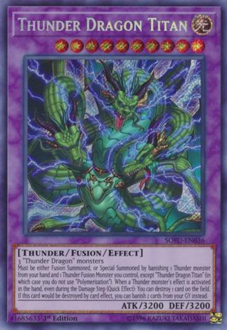 Thunder Dragon Titan - SOFU-EN036 - Secret Rare - 1st Edition