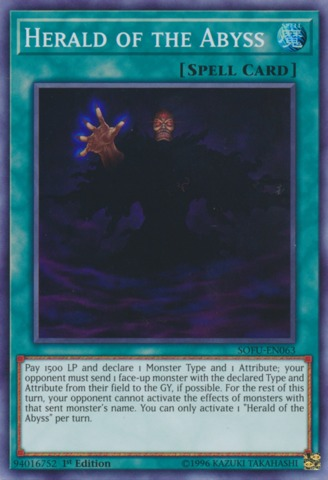 Herald of the Abyss - SOFU-EN063 - Super Rare - 1st Edition