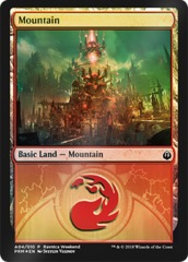 Mountain (A04/010) FOIL - Izzet Ravnica Weekend Promo