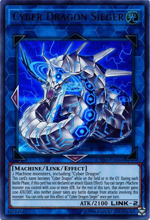 Cyber Dragon Sieger - CYHO-EN046 - Ultra Rare - Unlimited Edition