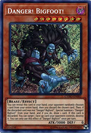 Danger! Bigfoot! - CYHO-EN082 - Secret Rare - Unlimited Edition