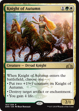 Knight of Autumn - Foil