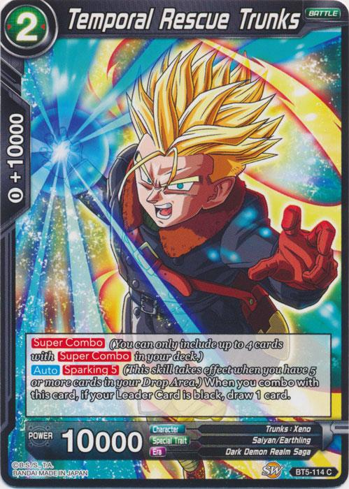 Losse kaarten spellen Black Masked Saiyan Verzamelingen the Devastator BT5-111 SR Dragon Ball Super TCG NM