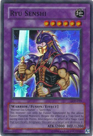 Ryu Senshi - LOD-019 - Super Rare - Unlimited Edition