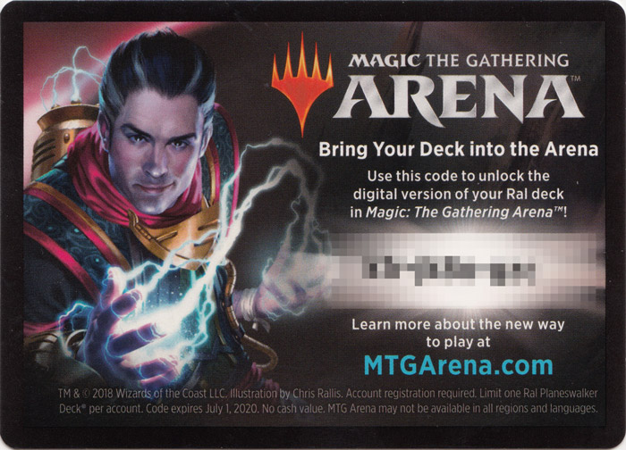 MTG Arena Code Card - Ral Planeswalker Deck - Magic The