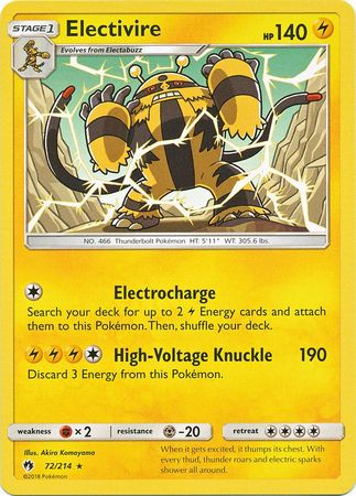 Electivire - 72/214 - Rare