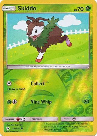 Skiddo - 35/214 - Common - Reverse Holo