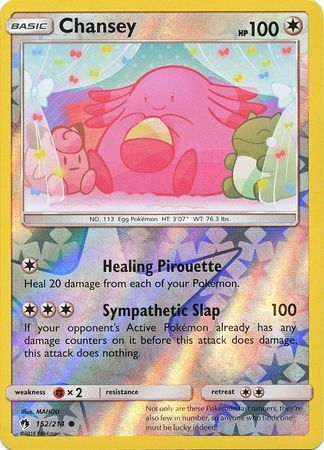 Chansey - 152/214 - Common - Reverse Holo
