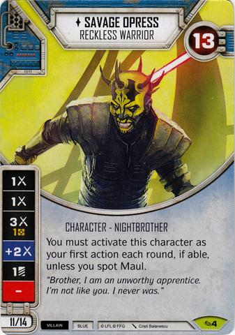 Savage Opress- Reckless Warrior