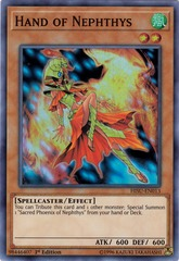 Hand of Nephthys - HISU-EN013 - Super Rare - 1st Edition