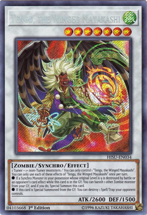 Tengu, the Winged Mayakashi - HISU-EN034 - Secret Rare - 1st Edition