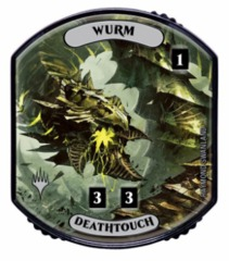 Ultra Pro - Relic Tokens: Lineage Collection - Wurm (Deathtouch) - Foil