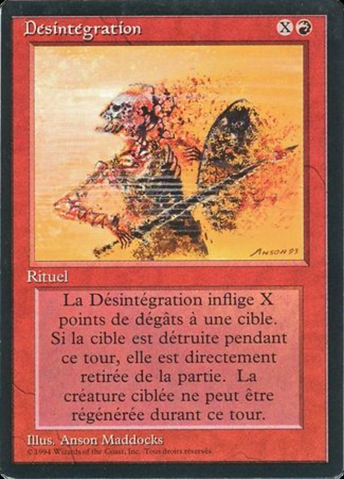 Disintegrate - French
