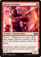 Akroan Crusader on Channel Fireball