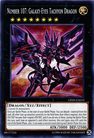 Number 107: Galaxy-Eyes Tachyon Dragon - OP09-EN019 - Common - Unlimited