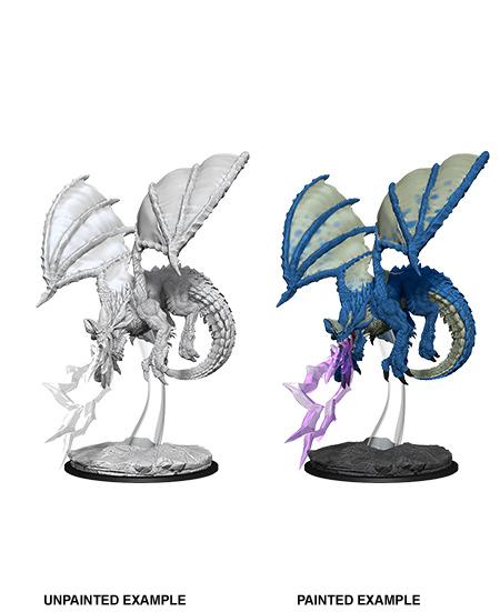 Nolzurs Marvelous Unpainted Minis - Young Blue Dragon