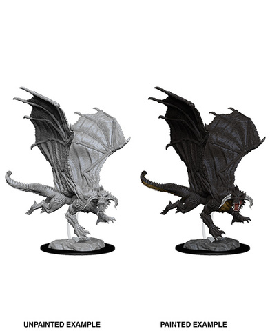 Nolzurs Marvelous Unpainted Miniatures - Young Black Dragon