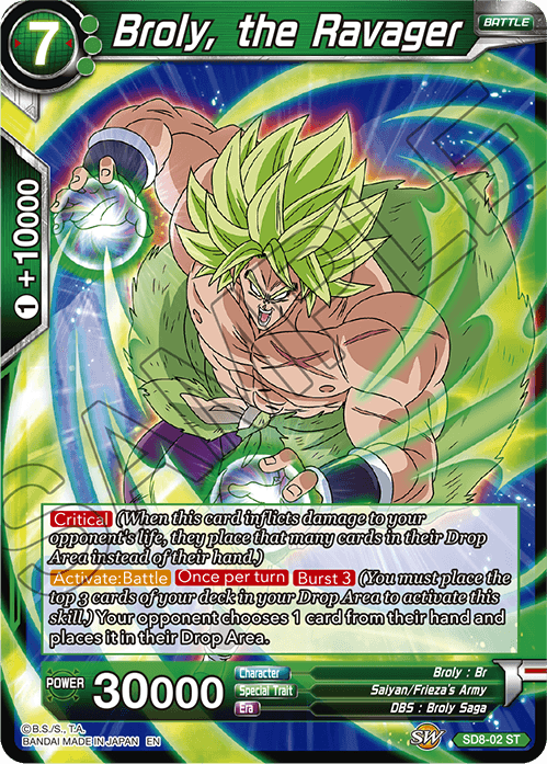 Broly, the Ravager - SD8-02 - ST
