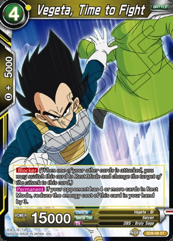 Vegeta, Time to Fight - SD8-08 - ST