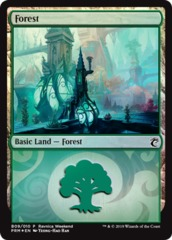 Forest (B09/010) - Foil Ravnica Weekend Promo