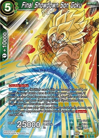 Final Showdown Son Goku - TB3-035 - SR