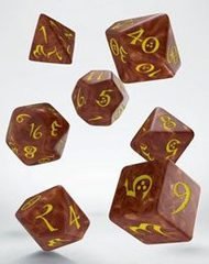 Classic RPG Dice Set caramel & yellow (7)