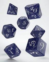 Classic RPG Dice Set cobalt & white (7)