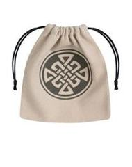 Celtic Dice Bag beige & black