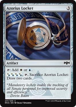 Azorius Locket - Foil