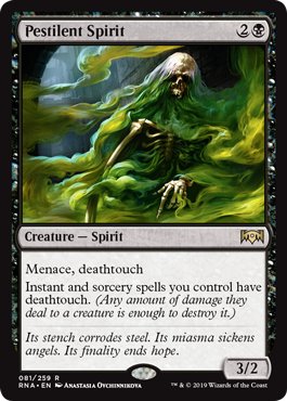 Pestilent Spirit - Magic Singles » Guilds Block » Ravnica Allegience